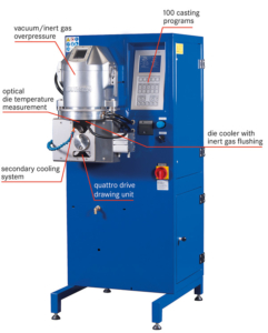 Vakuum-Stranggießen oxidationsfreierStrangguss
