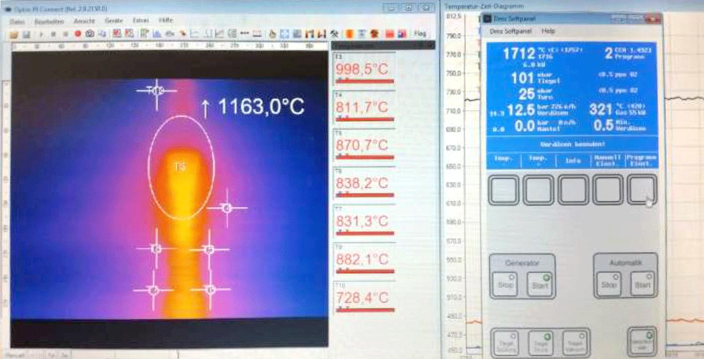 Indutherm DMS Fernsteuerung Fernbedienung Gießanlagen
